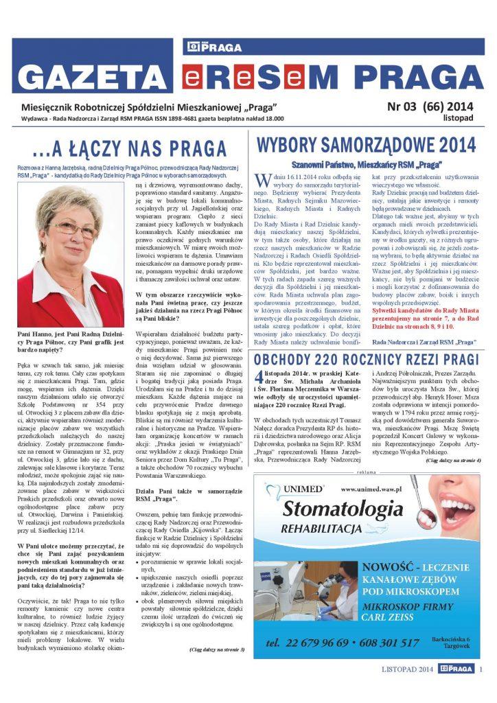 Gazeta nr 3 (66) Listopad 2014
