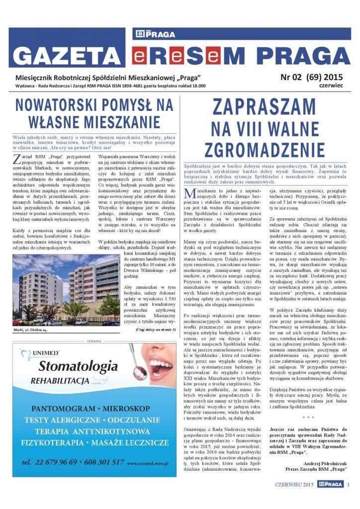 Gazeta nr 2 (69) Czerwiec 2015