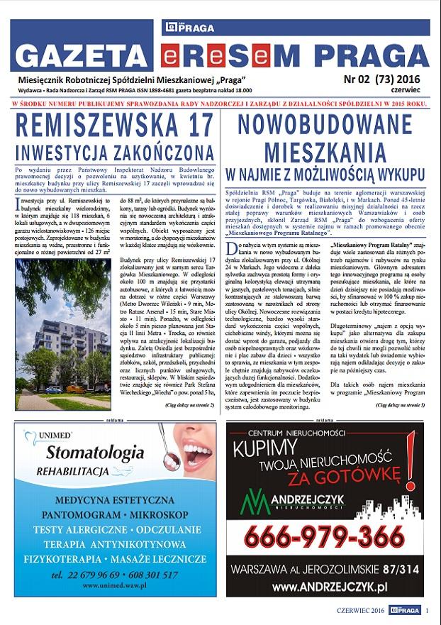 Gazeta nr 2 (73) Czerwiec 2016