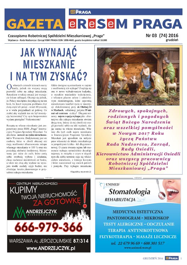 Gazeta nr 3 (74) Grudzień 2016
