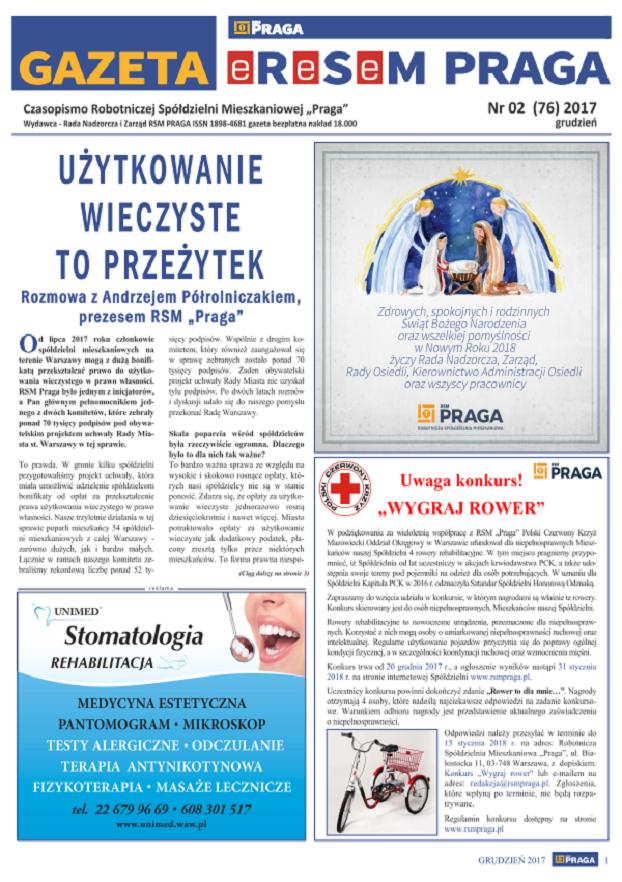 Gazeta nr 2 (76) Grudzień 2017