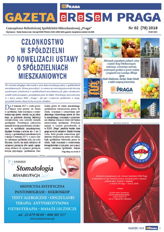 Gazeta nr 2 (78) Marzec 2018
