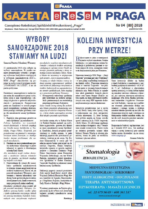 Gazeta nr 4 (80) Październik 2018