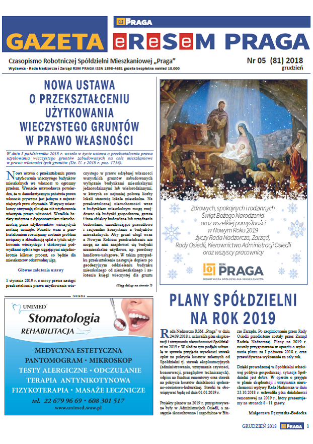 Gazeta nr 5 (81) Grudzień 2018
