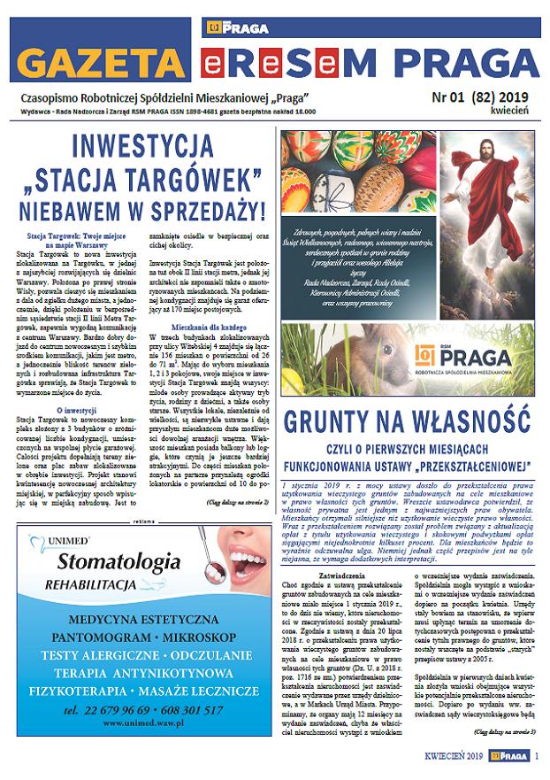 Gazeta nr 1 (82) Kwiecień 2019