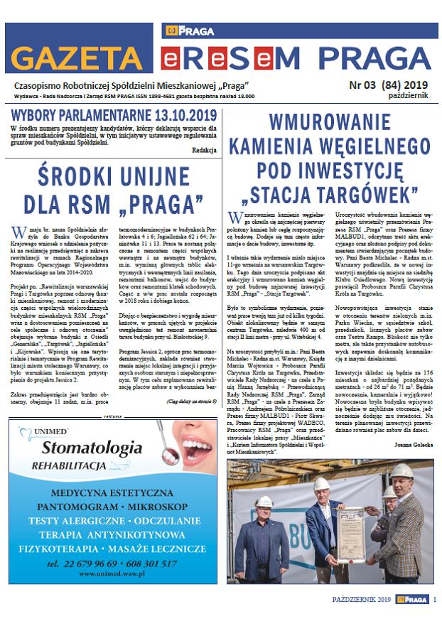 Gazeta nr 3 (84) Październik 2019