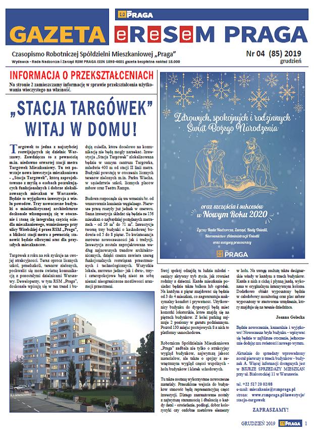 Gazeta nr 4 (85) Grudzień 2019