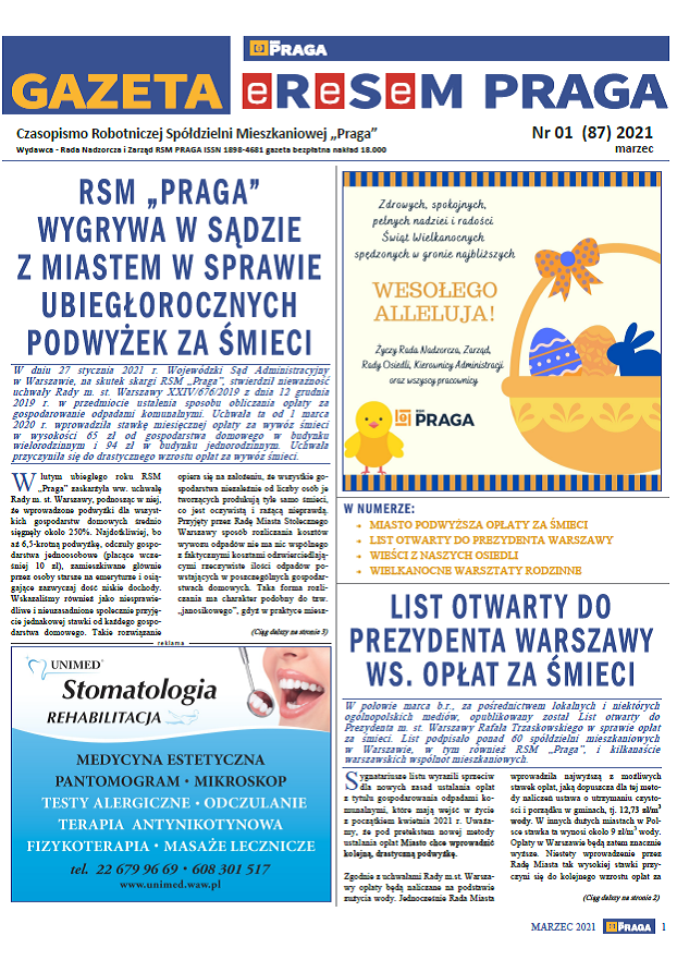 Gazeta nr 1 (87) Marzec 2021